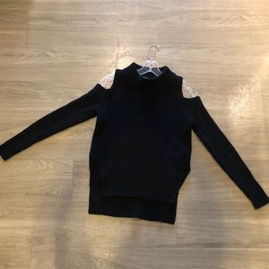 French Connection cold shoulder black sweater